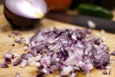 chopped onions - Onion Masala Fry