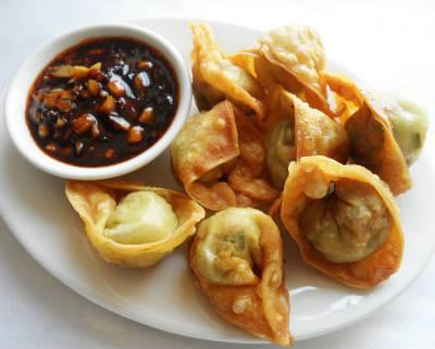 crispy fried chicken wontons - Crispy Fried Chicken Wontons