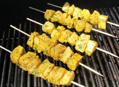 grilled fish kebabs - Grilled Marinated Fish Kebabs