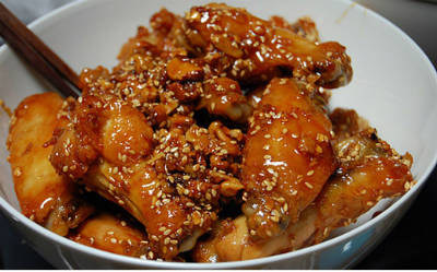 honey sesame chicken wings - Honey Sesame Chicken Wings