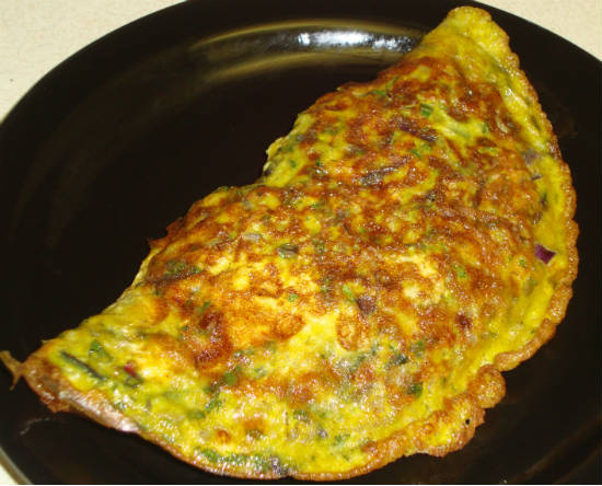 masala omelette - Top 10 South Indian Breakfast Dishes