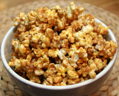 peanut butter honey popcorn - Peanut Butter and Honey Popcorn
