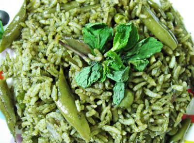 pudina masala rice - புதினா மசாலா சாதம்
