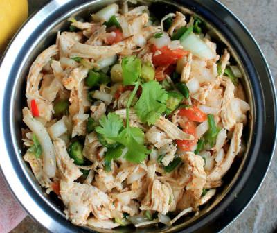 shredded chicken salad - Shredded Chicken Salad