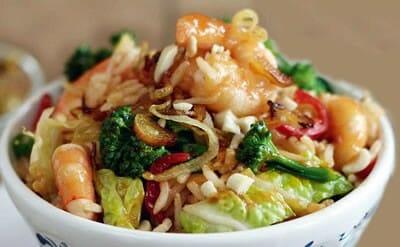 Stir-Fried Prawn Rice