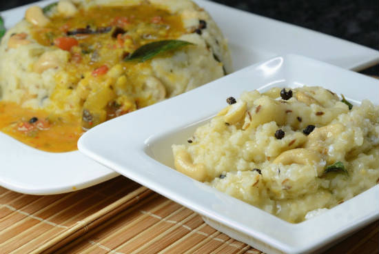 ven pongal - Top 10 South Indian Breakfast Dishes