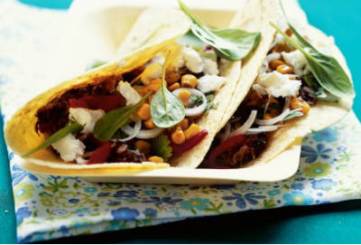 Black Bean and Spinach Tacos