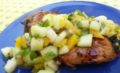 Chicken with Cucumber and Mango Sauce