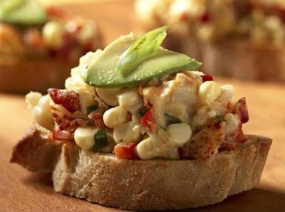 Lobster and Corn Bruschetta