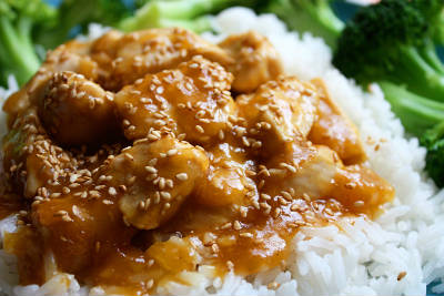 orange sesame chicken - Orange Sesame Chicken