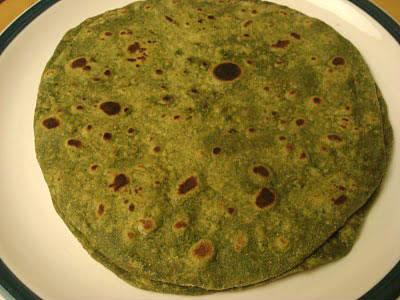 palak chapati - பாலக் சப்பாத்தி