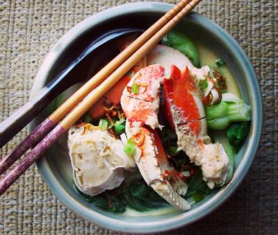 Singapore Crab Noodles