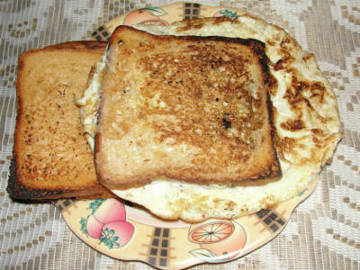 Bread Veg Omelette