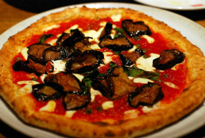Eggplant (Brinjal) and Mint Pizza