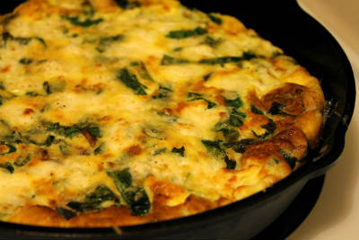 Spring Onion and Capsicum Frittata