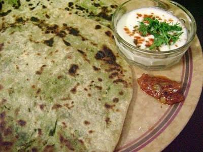 Green Peas stuffed Chapati