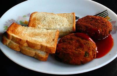 Veg Cutlet Sandwich