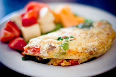 Breakfast Omelette with Fruits