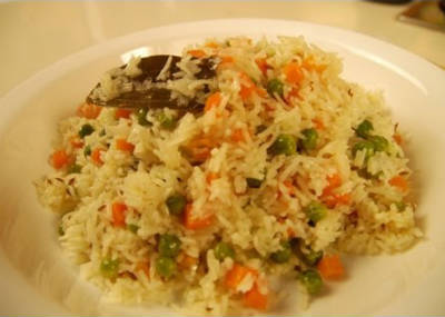 carrot peas rice - Carrot and Peas Rice