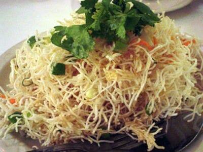crispy chinese noodles - Crispy Chinese Noodles Chaat