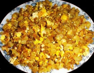 egg bhujia - முட்டை புஜ்ஜியா