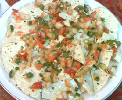 masala papad chaat - Masala Papad Chaat