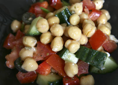 middle eastern chickpea salad - Middle Eastern Chickpea Salad