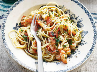 Prawn and Garlic Pasta