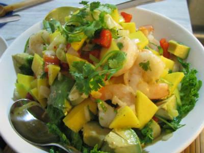 shrimp mango avocado salad - Shrimp, Mango and Avocado Salad