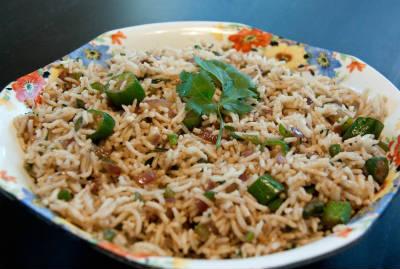 Chettinad Vendakkai Sadam (Bhindi Rice)