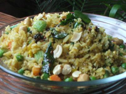 aval vegetable upma - Aval Vegetable Upma