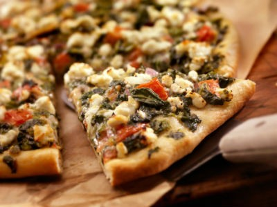 cheese spinach pizza - Spinach Cheese Pizza