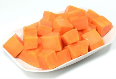 Chopped Papaya Fruit