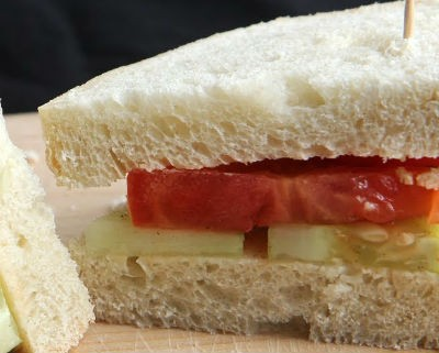 tomato cucumber sandwich - Tomato, Cucumber and Mint Sandwich