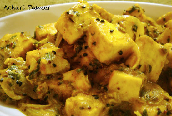 achari paneer - 15 Popular Indian Appetizers and Snacks