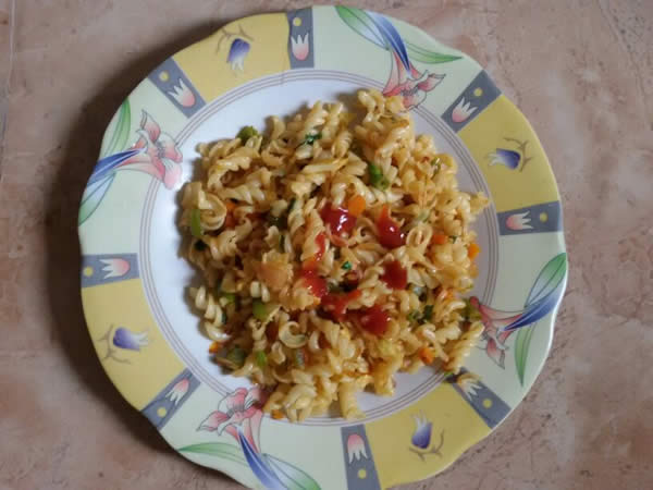 indian style vegetable pasta - Indian style Vegetable Pasta