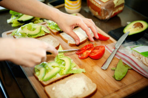 making a sandwich - 5 Summer Sandwiches!