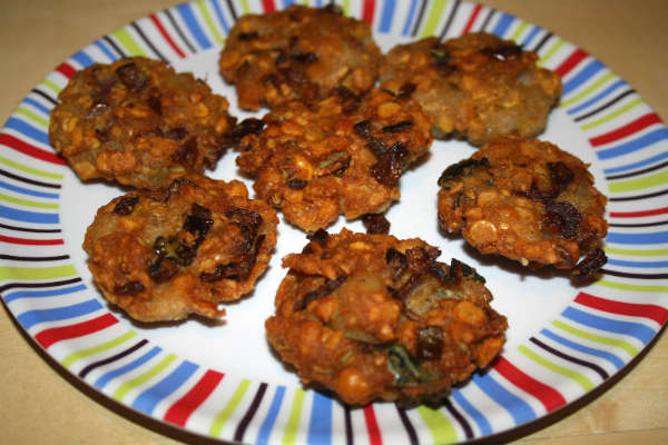 oats spinach vada - Oats Spinach Vadai