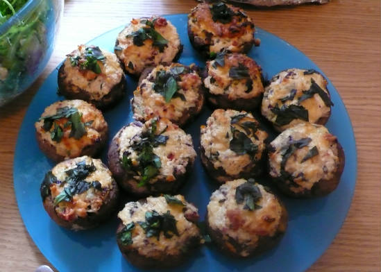 stuffed mushrooms - 15 Popular Indian Appetizers and Snacks