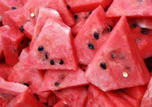 watermelon pieces