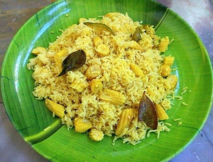 baby corn rice - Baby Corn Rice
