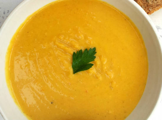 carrot coconut dal soup - Carrot, Coconut and Dal Soup