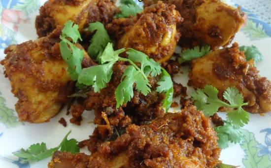 chettinad chicken pirattal - செட்டிநாடு கறி பிரட்டல்