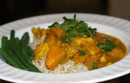 chicken pumpkin curry - Chicken and Pumpkin Curry