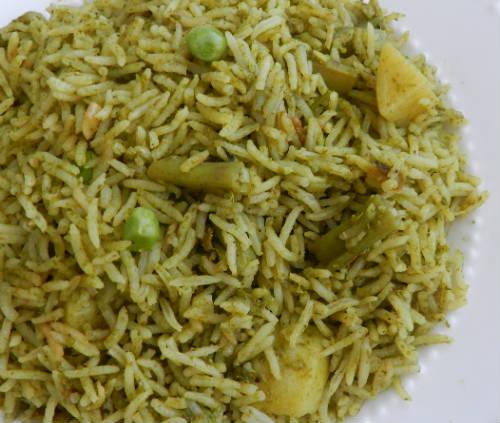 coriander pulao - கொத்தமல்லி புலாவ்