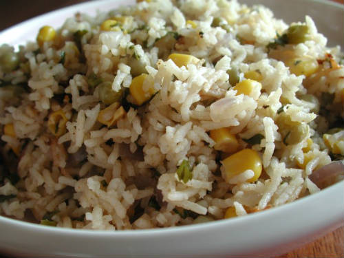 corn peas rice - Corn and Peas Rice