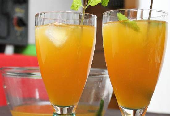 mango mint iced tea - Mango Mint Iced Tea