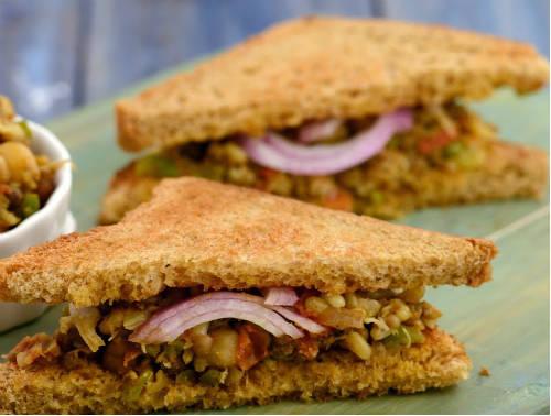mixed sprouts sandwich - Mixed Sprouts Sandwich