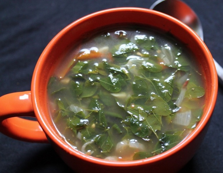 murungai keerai soup - முருங்கைக்கீரை சூப்