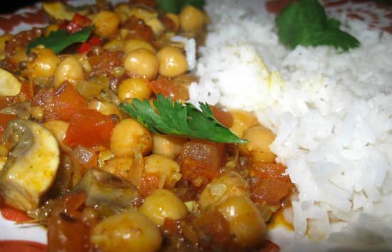 mushroom channa masala - மஷ்ரூம் சென்னா மசாலா